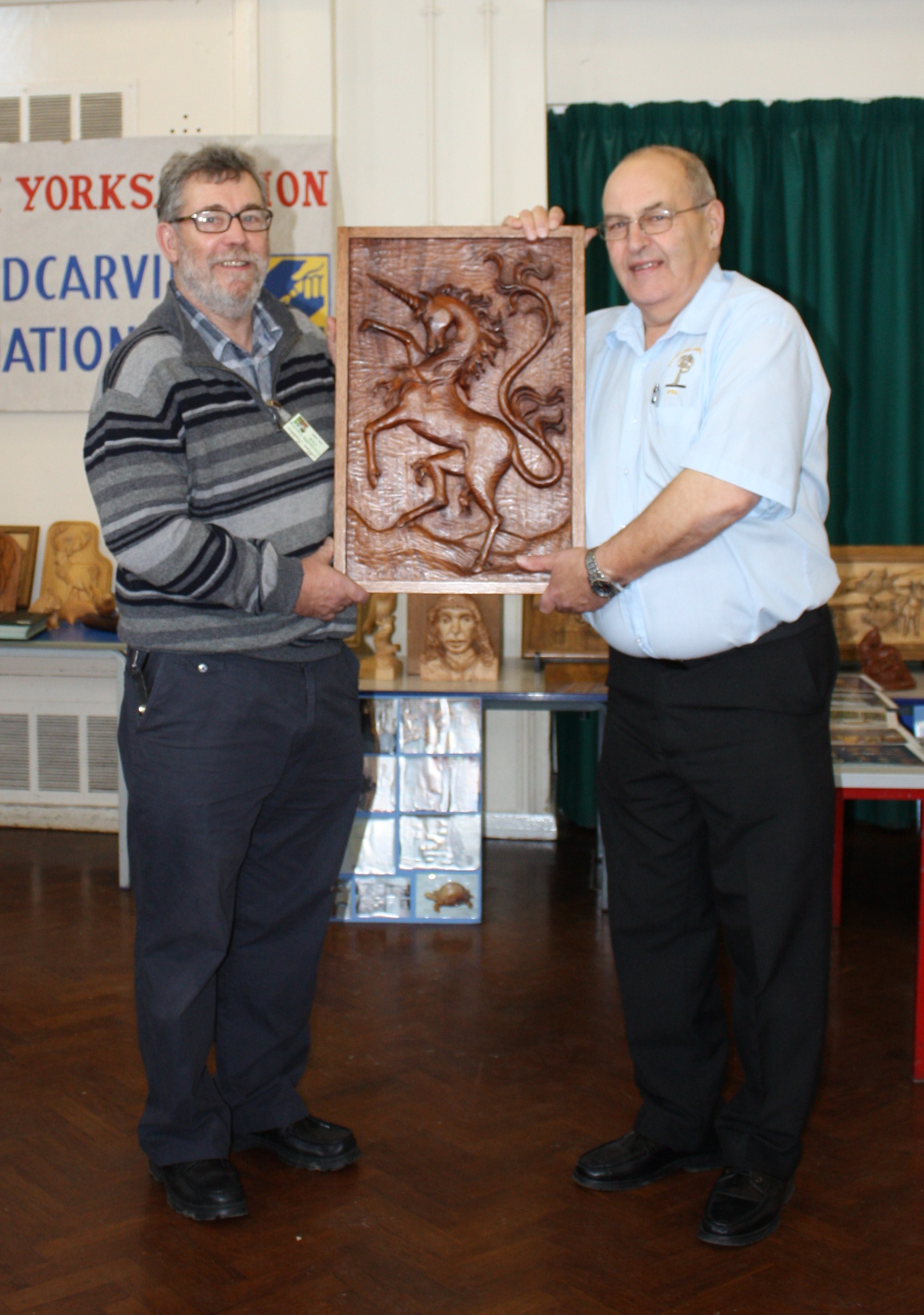 Alan Suddes and David Shires founders of Coniscliffe Carving Club